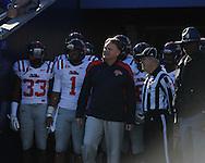 Ole Miss head coach Houston Nutt vs. Kentucky at Commonwealth Stadium in Lexington, Ky. on Saturday, November 5, 2011. Kentucky won 30-13...