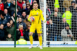 Stoke City's Jack Butland in action -  Photo mandatory by-line: Matt McNulty/JMP - Mobile: 07966 386802 - 14/02/2015 - SPORT - Football - Blackburn - Ewood Park - Blackburn Rovers v Stoke City - FA Cup - Fifth Round