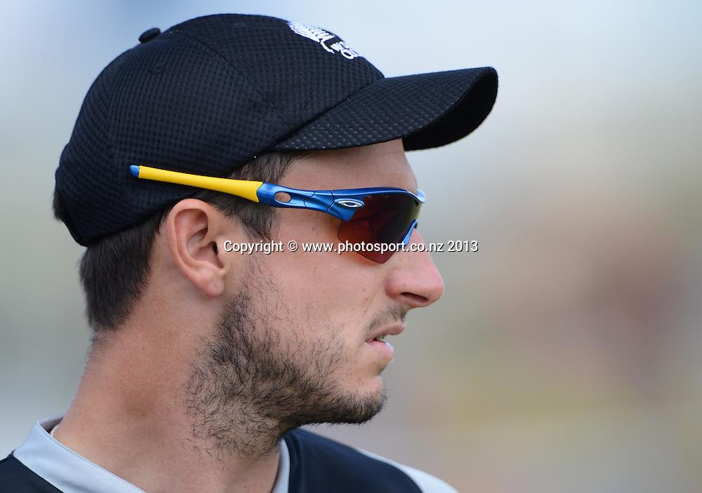 Hamish Rutherford. Twenty20 Cricket. England v NZ XI. England Cricket tour to New Zealand. Cobham Oval. Whangarei, New Zealand on Tuesday 5 February 2013. Photo: Andrew Cornaga/Photosport.co.nz