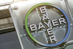 26.02.2015, Bayer-Kommunikationszentrum, Leverkusen, GER, Bilanzpressekonferenz Bayer AG, Ergebnisse des Geschäftsjahres 2014, im Bild Bayer Logo // during a Annual Press Conference Bayer AG at the Bayer-Kommunikationszentrum in Leverkusen, Germany on 2015/02/26. EXPA Pictures © 2015, PhotoCredit: EXPA/ Eibner-Pressefoto/ Schueler<br /> <br /> *****ATTENTION - OUT of GER*****