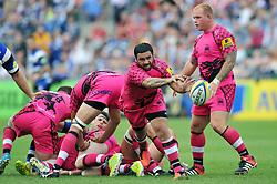Piri Weepu of London Welsh passes the ball back - Photo mandatory by-line: Patrick Khachfe/JMP - Mobile: 07966 386802 13/09/2014 - SPORT - RUGBY UNION - Bath - The Recreation Ground - Bath Rugby v London Welsh - Aviva Premiership