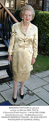 BARONESS THATCHER at a party in London on 20th July 2004.PXH 76