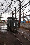 Trains in Rafael Freyre, Holguin, Cuba.