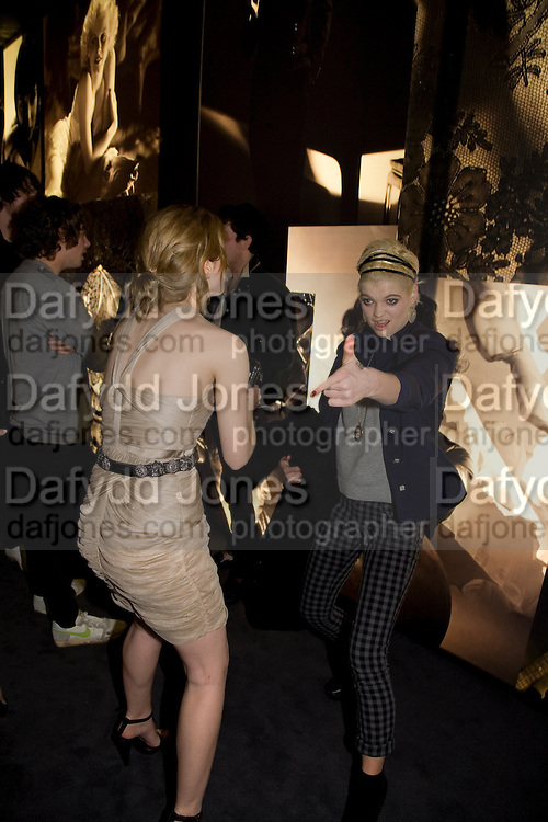 EMMA WATSON AND PIXIE GELDOF, Vanity Fair Portraits: Photographs 1913-2008. Hosted by Burberry and Vanity Fair. National Portrait Gallery. London. 9 February 2008.  *** Local Caption *** -DO NOT ARCHIVE-© Copyright Photograph by Dafydd Jones. 248 Clapham Rd. London SW9 0PZ. Tel 0207 820 0771. www.dafjones.com.