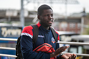 Yoan Zouma of Bolton Wanderers arriving at the New York Stadium before the EFL Sky Bet League 1 match between Rotherham United and Bolton Wanderers at the AESSEAL New York Stadium, Rotherham, England on 14 September 2019.