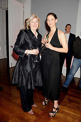 Left to right, THERESA MAY MP and MARIA GRACHVOGEL at the launch of Politics and The City - a new web site for women fusing politics with gossip, entertainment, news and fashion, held at the ICA, 12 Carlton House Terrace, London on 8th July 2008.<br />