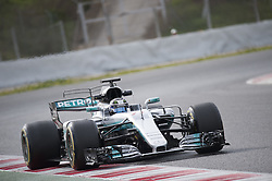 February 28, 2017 - Montmelo, Spain - Valtteri Bottas, driver of the Mercedes AMG F1 Team, in action during the 2nd day of the Formula 1 Test at the Circuit of Catalunya. (Credit Image: © Pablo Freuku/Pacific Press via ZUMA Wire)