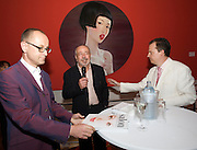 Presentation of Salon 2008 magazine at Rudolf Budja Galerie. From l.: Thomas Manss (Art Director), Derek Weber (Editor-in-chief), Dr. Bodo Polzer (Editor).