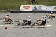 Poznan, POLAND.  2006, FISA, Rowing World Cup, Final W2X, NZL W2X bow, Georgina EVERS-SWINDELL and Caroline EVERS-SWINDELL,   'Malta Regatta course;  Poznan POLAND, Sat. 17.06.2006. © Peter Spurrier   ....[Mandatory Credit Peter Spurrier/ Intersport Images] Rowing Course:Malta Rowing Course, Poznan, POLAND