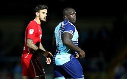 Adebayo Akinfenwa of Wycombe Wanderers and Marlon Pack of Bristol City - Mandatory by-line: Robbie Stephenson/JMP - 09/08/2016 - FOOTBALL - Adams Park - High Wycombe, England - Wycombe Wanderers v Bristol City - EFL League Cup