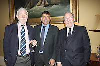 Theo Phelan Race Organiser, Deputy Andrew Doyle TD, James Horan Commodore Royal Irish YC  at the launch of 18th Volvo 2016 Round Ireland Yacht Race which was held in the Royal Irish Yacht Club.<br />