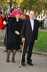 LADY ANTONIA FRASER and SIR HAROLD PINTER at the wedding of Clementine Hambro to Orlando Fraser at St.Margarets Westminster Abbey, London on 3rd November 2006.<br />