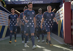 July 26, 2017 - Santa Clara, CA, USA - Santa Clara, CA - Wednesday July 26, 2017: Chris Pontius, Jordan Morris, USMNT during the 2017 Gold Cup Final Championship match between the men's national teams of the United States (USA) and Jamaica (JAM) at Levi's Stadium. (Credit Image: © John Dorton/ISIPhotos via ZUMA Wire)