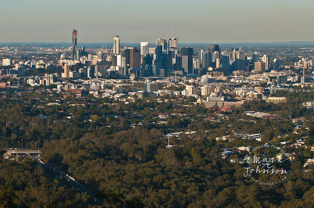 Brisbane city from Mt. Cootha lookout, Queensland, Australia