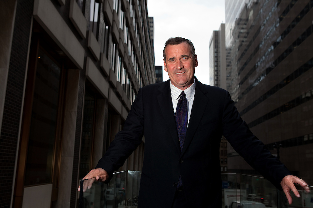 Former San Francisco Giants pitcher Bill Bordley, now Major League Baseball's vice president of security and facility management photographed outside his office on Park Avenue in Manhattan, New York on November 28, 2011. Bill Bordley is a former secret service agent who was Chelsea Clinton's bodyguard.