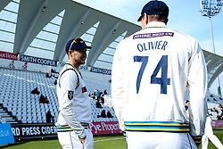 Joe Root of Yorkshire talks with Duanne Olivier of Yorkshire - Mandatory by-line: Robbie Stephenson/JMP - 05/04/2019 - CRICKET - Trent Bridge - Nottingham, England - Nottinghamshire v Yorkshire - Specsavers County Championship Division One