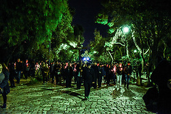 April 14, 2017 - Athens, Attica, Greece - Good Friday at the Agios Demetrios Loubardiaris Chappel on Philopappou hill in Athens on April 14, 2017  (Credit Image: © Wassilios Aswestopoulos/NurPhoto via ZUMA Press)