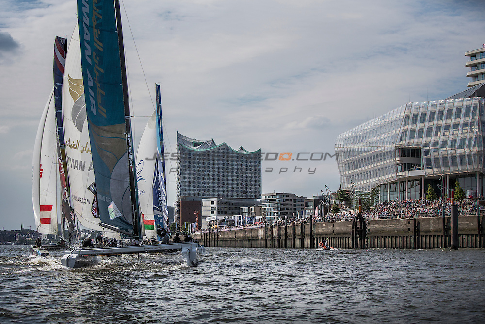 2015 Extreme Sailing Series - Act 5 - Hamburg<br /> ESS Fleet<br /> Credit Jesus Renado