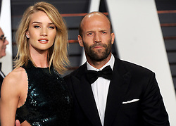 Rosie Huntington-Whiteley, Jason Statham in attendance for 2015 Vanity Fair Oscar Party Hosted By Graydon Carter at Wallis Annenberg Center for the Performing Arts on February 22, 2015 in Beverly Hills, California. EXPA Pictures © 2015, PhotoCredit: EXPA/ Photoshot/ Dennis Van Tine<br /> <br /> *****ATTENTION - for AUT, SLO, CRO, SRB, BIH, MAZ only*****