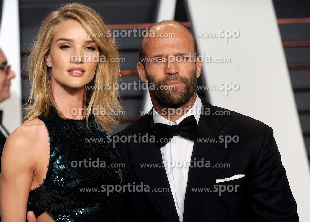 Rosie Huntington-Whiteley, Jason Statham in attendance for 2015 Vanity Fair Oscar Party Hosted By Graydon Carter at Wallis Annenberg Center for the Performing Arts on February 22, 2015 in Beverly Hills, California. EXPA Pictures &copy; 2015, PhotoCredit: EXPA/ Photoshot/ Dennis Van Tine<br /> <br /> *****ATTENTION - for AUT, SLO, CRO, SRB, BIH, MAZ only*****