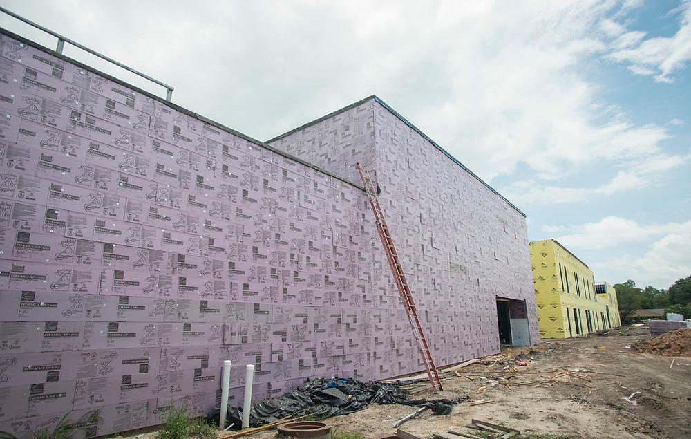 Construction at Parker Elementary School, June 14, 2017.