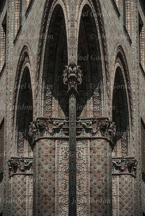 Digital photographic series of fantasy decorative arches.  <br /> <br /> Two or more layers or generations were used to enhance, alter, manipulate the image, creating an abstract surrealistic mirrored symmetry.
