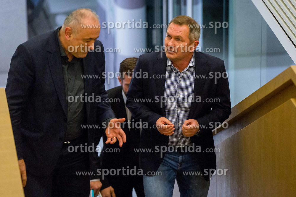 Matjaz Kek and Radenko Mijatovic during Press conference of new head coach of Team Slovenia, on November 27, 2018 in National Football Centre, Brdo pri Kranju, Slovenia. Photo by Ziga Zupan / Sportida