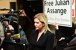 WikiLeaks founder Julian Assange's lawyer Jennifer Robinson speaks to the media outside Southwark Crown Court, London, where he was jailed for 50 weeks for breaching his bail after going into hiding in the Ecuadorian embassy in London while he was wanted over allegations of sexual offences.
