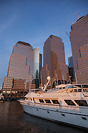 New York, North Cove world financial center towers in downtown, lower manhattan  on Hudson  river New york - United states  Manhattan  / les tours du world financial center,  le bas de la ville , sur l Hudson river