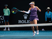 Catherine McNally of the United States in action during her second round match at the 2020 Australian Open, WTA Grand Slam tennis tournament on January 22, 2020 at Melbourne Park in Melbourne, Australia - Photo Rob Prange / Spain ProSportsImages / DPPI / ProSportsImages / DPPI