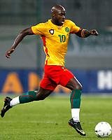 Fotball<br /> Østerrike v Kamerun<br /> 12.08.2009<br /> Foto: Gepa/Digitalsport<br /> NORWAY ONLY<br /> <br /> Bild zeigt Achille Emana (CMR)