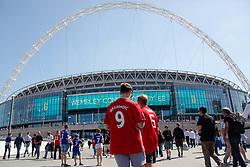 May 19, 2018 - London, England, United Kingdom - Men with Ibrahimovic and Pogba Shirt at Wembley Stadium  attend The Emirates FA Cup Final between Chelsea and Manchester United at Wembley Stadium on May 19, 2018 in London, England. (Credit Image: © Alex Cavendish/NurPhoto via ZUMA Press)