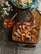 Backyard BBQ recipes: Grilled Cola Flank Steak and Fresh Herb Potato salad