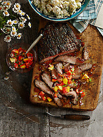 Backyard BBQ recipes: Grilled Cola Flank Steak and Fresh Herb Potato salad