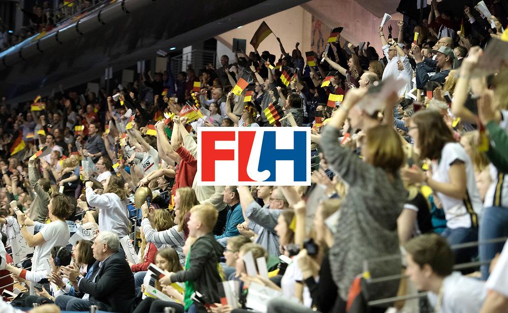 BERLIN - Indoor Hockey World Cup<br /> Final: Netherlands - Germany<br /> foto: Fans <br /> WORLDSPORTPICS COPYRIGHT FRANK UIJLENBROEK