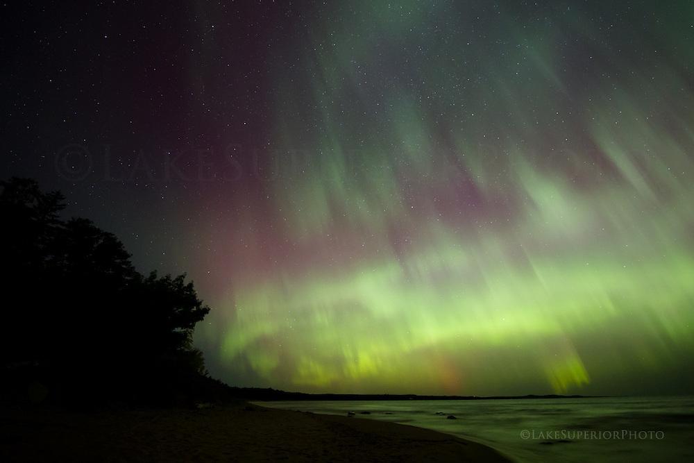 Aurora, Northern Lights, Little Presque Isle, Marquette Mi