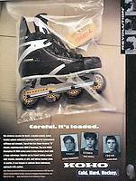 1997:  KOHO Karhu inline roller hockey advertisement.