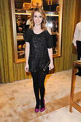 Actress EMMA ROBERTS niece of Julia Roberts at a Cocktail party to celebrate the opening of the new Miu Miu boutique, 150 New Bond Street, London hosted by Miuccia Prada and Patrizio Bertelli on 3rd December 2010.