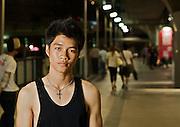 Street Dancer at the National Stadium in Bangkok