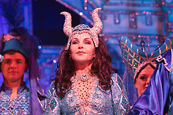 "© Licensed to London News Pictures. 06/12/2012. London, England. Priscilla Presley as the ""Wicked Queen"". Priscilla Presley makes her pantomime debut in ""Snow White and the Seven Dwarfs"" at the New Wimbledon Theatre, Wimbledon, from 7 December 2012 to 13 January 2013. Warwick Davis and Jarred Christmas star alongside her. Images from the Dress Rehearsal. Photo credit: Bettina Strenske/LNP"
