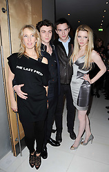 Left to right, SAM TAYLOR-WOOD, AARON JOHNSON, NICHOLAS HOULT and Talulah Riley at a party to celebrate Lancome's 10th anniversary of sponsorship of the BAFTA's in association with Harper's Bazaar magazine held at St.Martin's Lane Hotel, London on 19th February 2010.