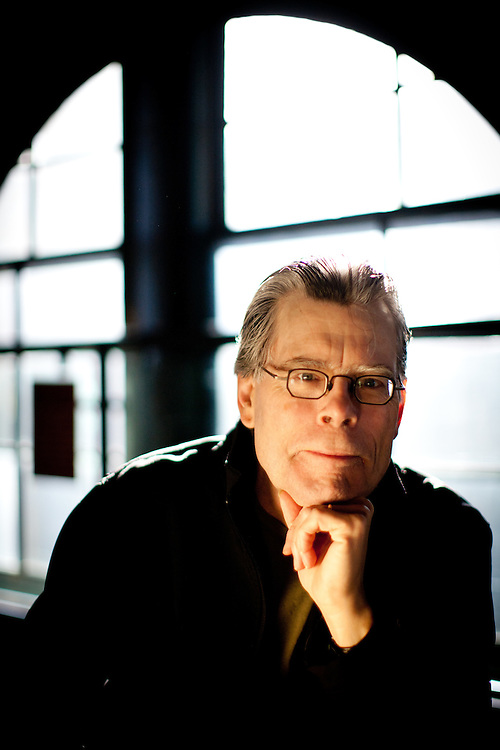 Author Stephen King photographed in Dallas, Texas.