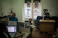 EGYPT, Cairo : Volunteers work in office during the  electoral campaign for independent presidential candidate Khaled Ali.  ph. Christian Minelli