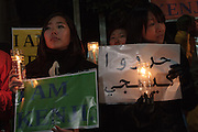 Rally in support of ISIS hostage, Kenji Goto. Nagatacho, Tokyo, Japan Friday January 30th 2015. About 300 friends and supporters rallied outside the residence of Prime Minister, Shinzo Abe to pressure him in securing the release of the freelance journalist who has been held by Islamic militants since October 2014