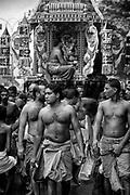 Hindu festival on the streets of Bambalapitiya in Colombo.