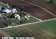 Lancaster Co. aerial photographs, Amish farm, Aerial Photograph Pennsylvania