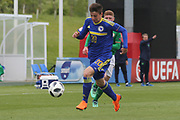 Armin Saric of of Bosnia and Herzegovina (20) runs at the Republic of Ireland defence during the UEFA European Under 17 Championship 2018 match between Bosnia and Republic of Ireland at Stadion Bilino Polje, Zenica, Bosnia and Herzegovina on 11 May 2018. Picture by Mick Haynes.