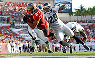 TAMPA, FL - DECEMBER 9: Wide Receiver Vincent Jackson #83 of the Tampa Bay Buccaneers during the game against the Philadelphia Eagles at Raymond James Stadium on December 9, 2012, in Tampa, Florida. The Buccaneers lost 23-21. (photo by Mike Carlson/Tampa Bay Buccaneers)