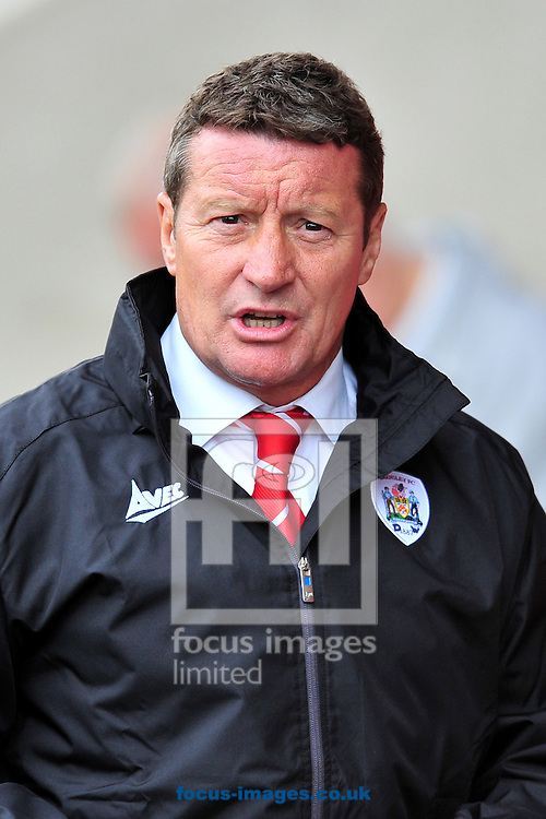 Barnsley manager Danny Wilson during the Sky Bet League 1 match at Alexandra Stadium, Crewe<br /> Picture by Ste Jones/Focus Images Ltd +44 7706 592282<br /> 16/08/2014