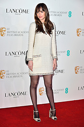 © Licensed to London News Pictures. 13/02/2016. DAKOTA JOHNSO attends the BAFTA Lancôme Nominees' Party held at Kensington Palace. London, UK. Photo credit: Ray Tang/LNP